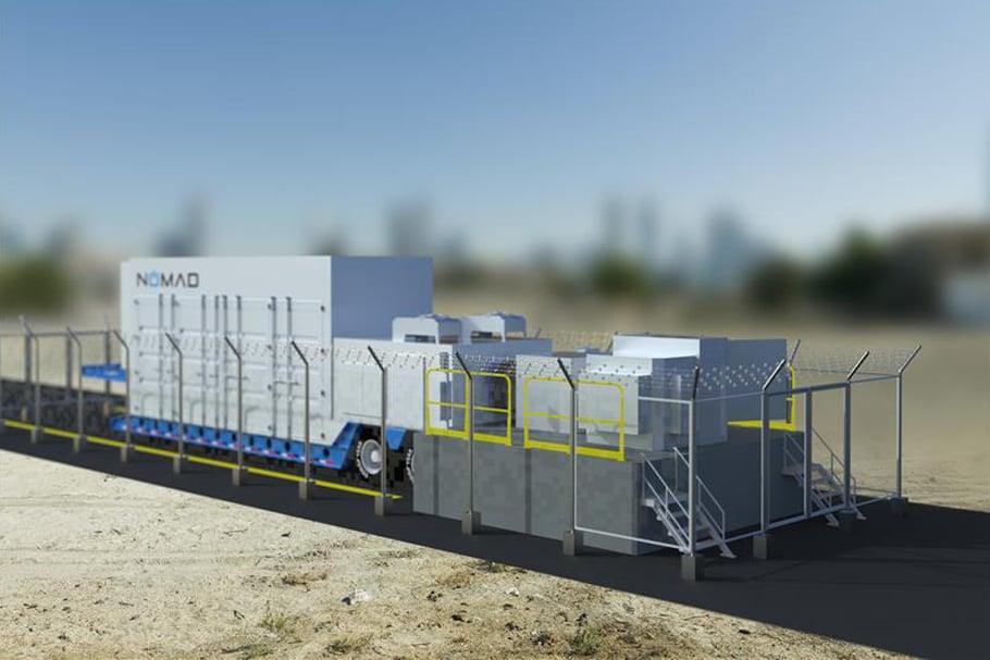Mobile Renewable Backup Generation and Storage Battery Nomad NRI KORE Biomass Diesel MORBUGs Lithium Transportable Emergency Power PowerDock